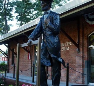 Lincoln in Peekskill by Richard Masloski